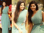 athulya ravi in pearl embellished saree