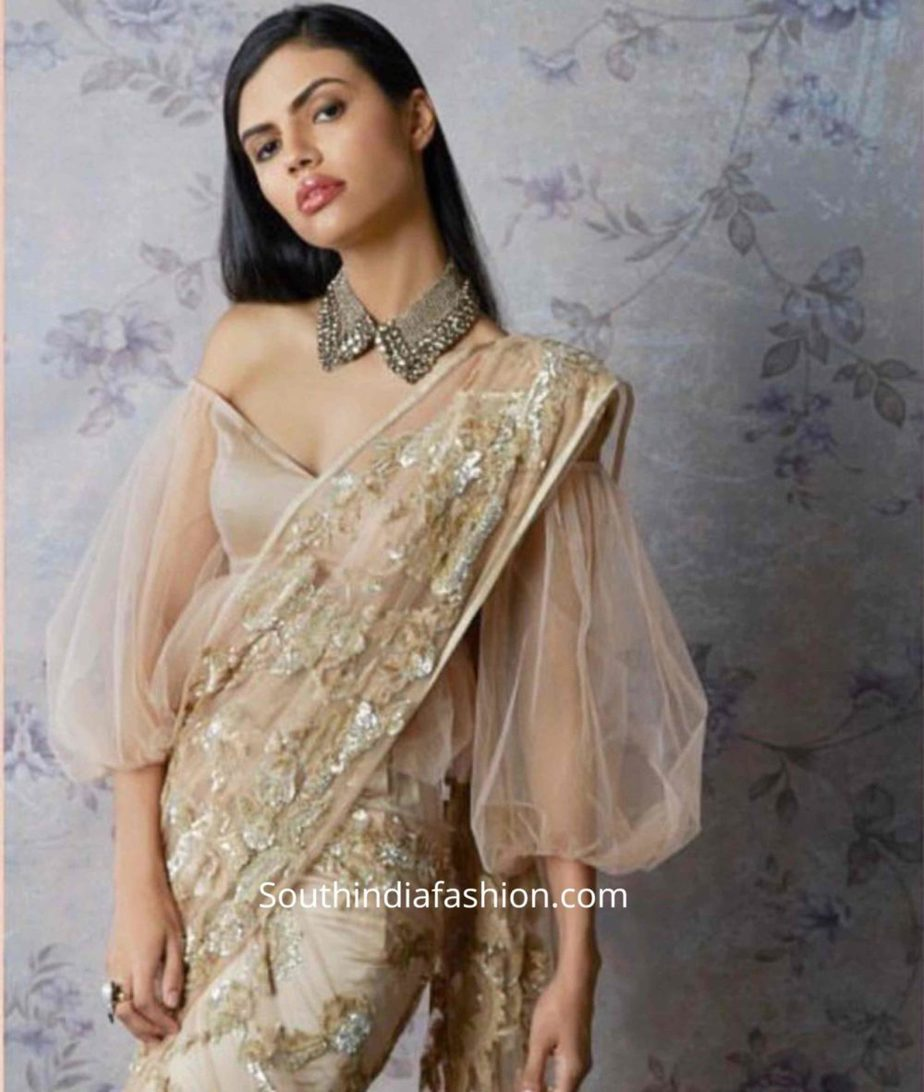 balloon sleeves blouse designs for sarees (10)