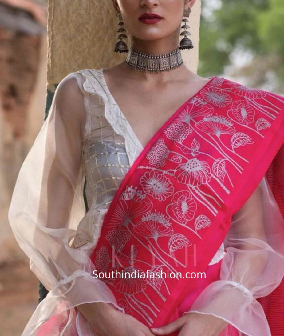 balloon sleeves blouse designs for sarees (11)