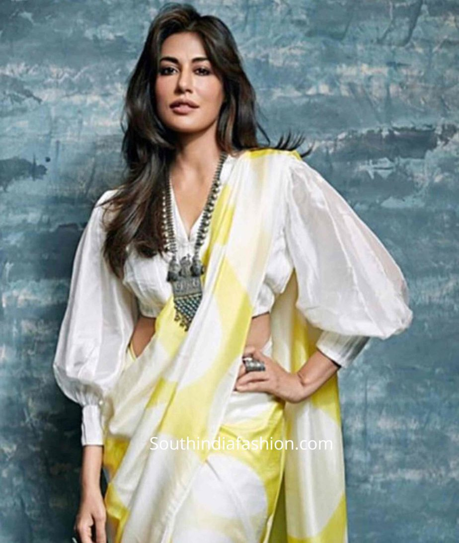 balloon sleeves blouse designs for sarees (13)