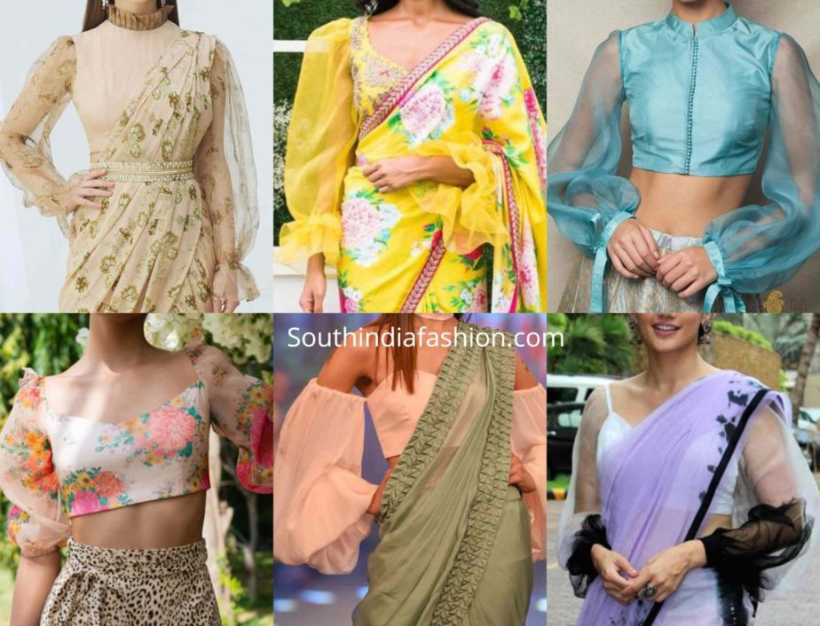balloon sleeves blouse designs for sarees (15)