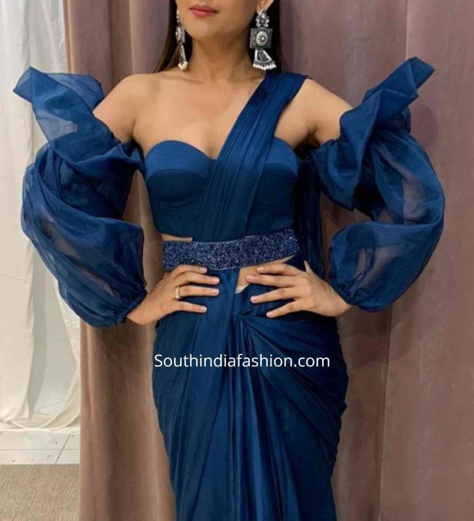 balloon sleeves blouse designs for sarees (2)