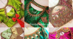 bridal pattu saree blouse designs 2020