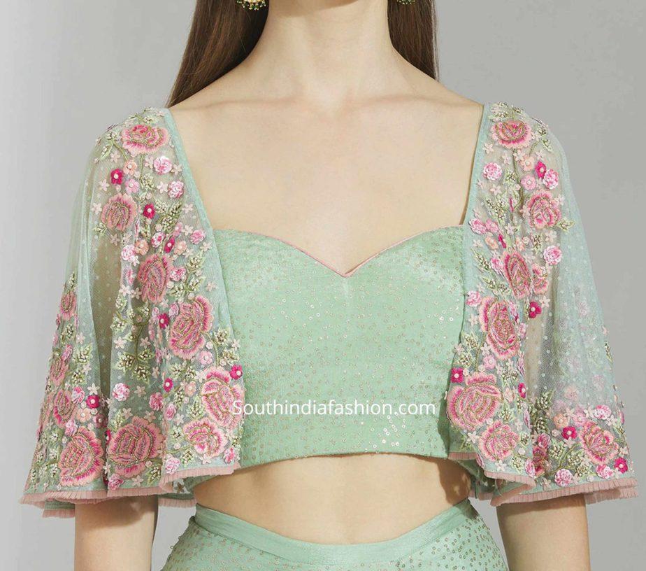 cape blouse designs for sarees (1)