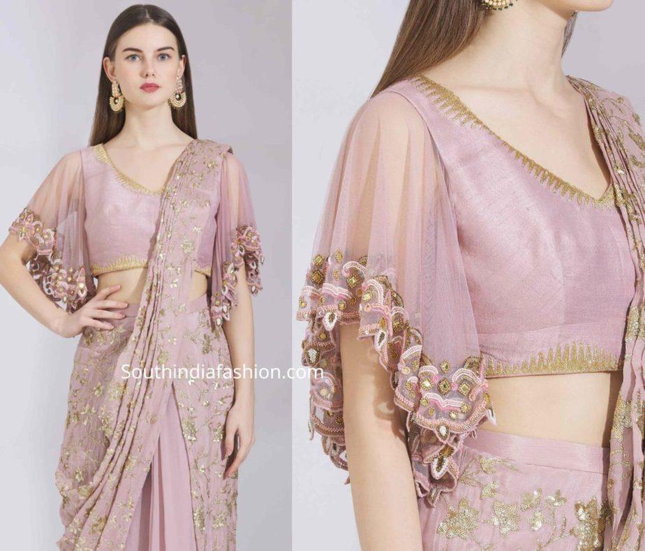 cape blouse designs for sarees (3)