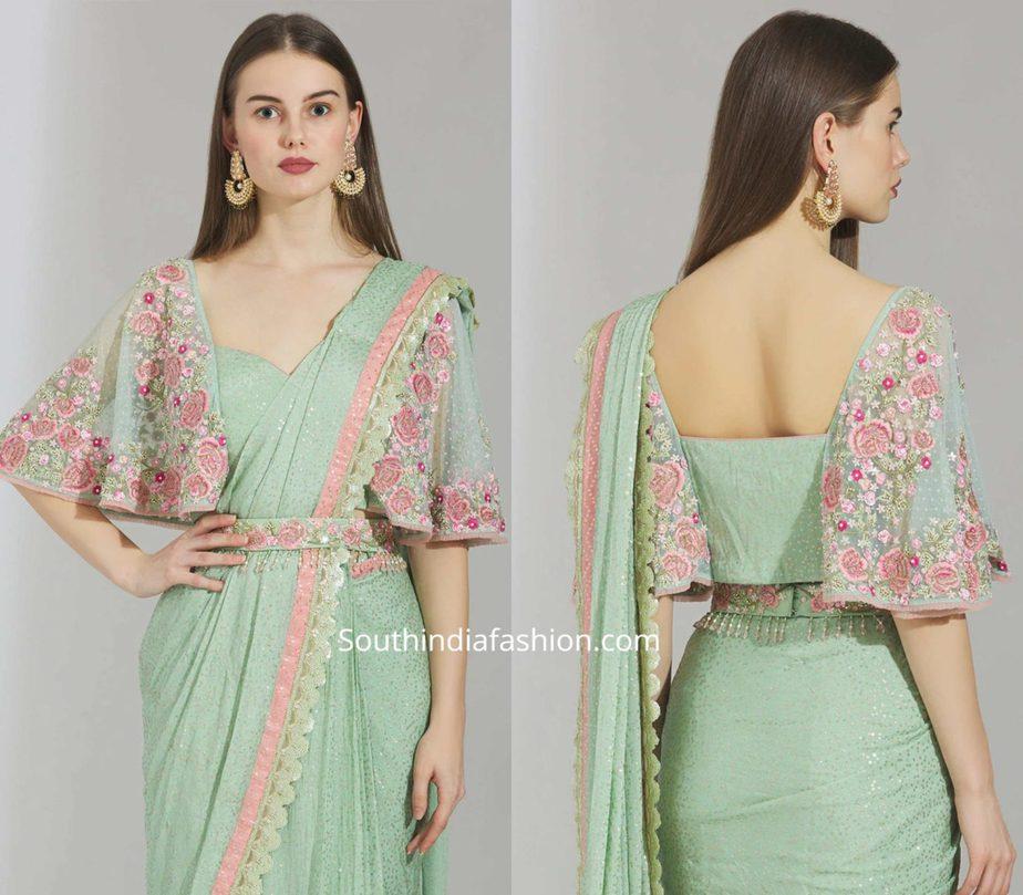 cape blouse designs for sarees