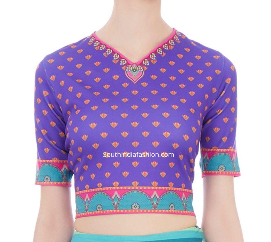 crop top blouse for saree