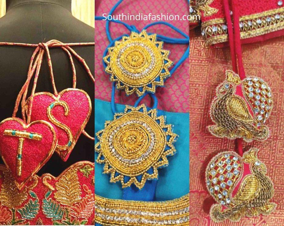 customized tassels for silk saree bridal blouse