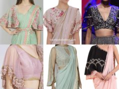 designer cape blouse designs for sarees and lehengas