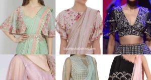 designer cape blouse designs for sarees and lehengas