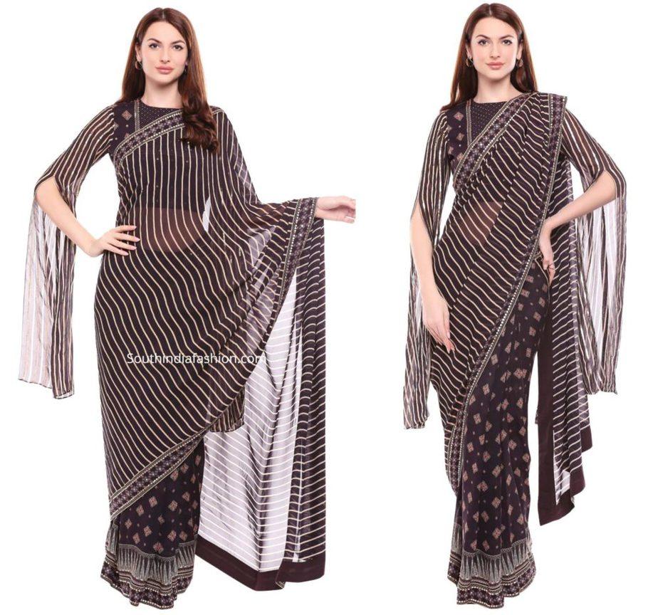long cape sleeves saree blouse