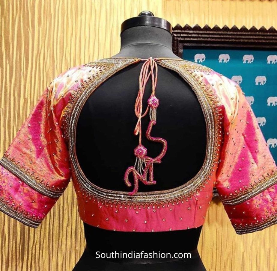maggam work blouse with customized tassels (3)