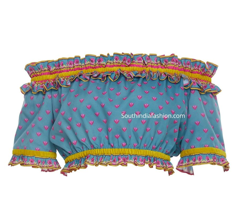 off shoulder readymade crop tops for sarees and lehengas (1)