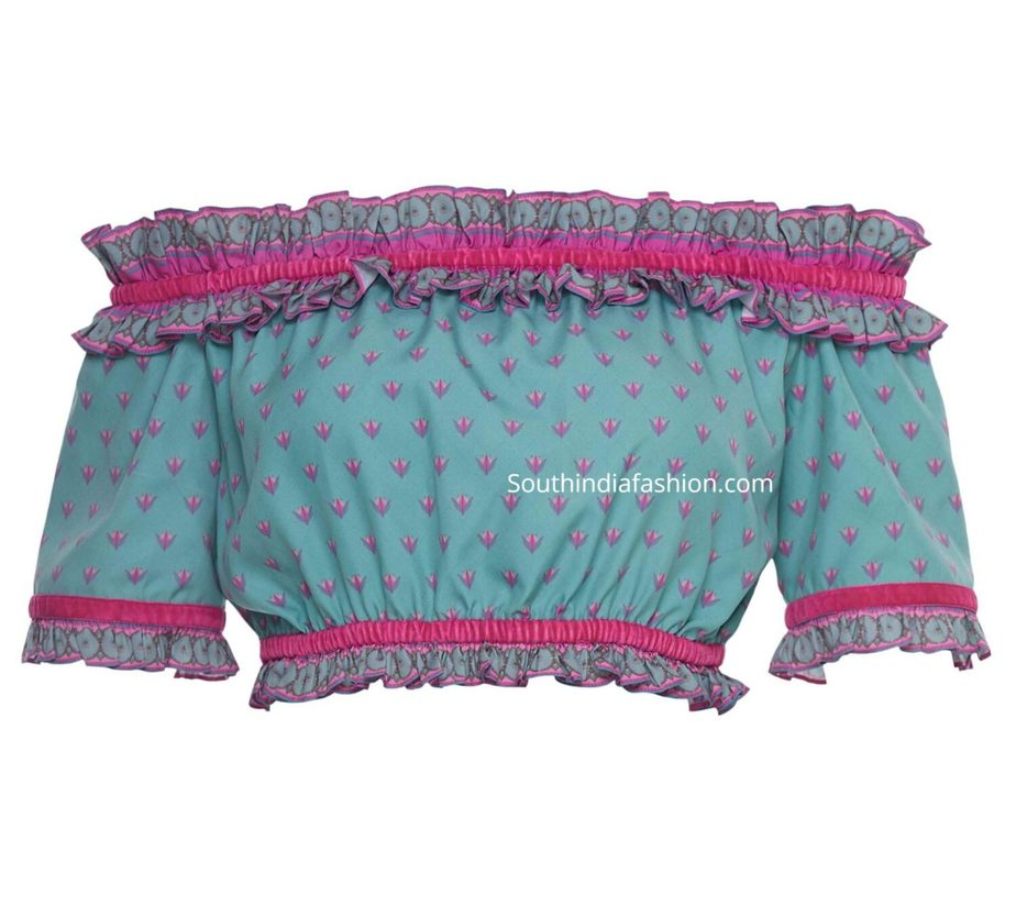 off shoulder readymade crop tops for sarees and lehengas (2)