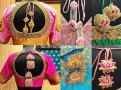 pattu saree blouse designs with unique latkans tassels