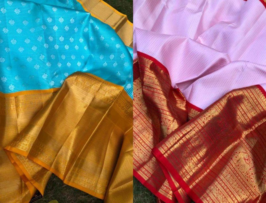 pattu sarees with unique color combinations