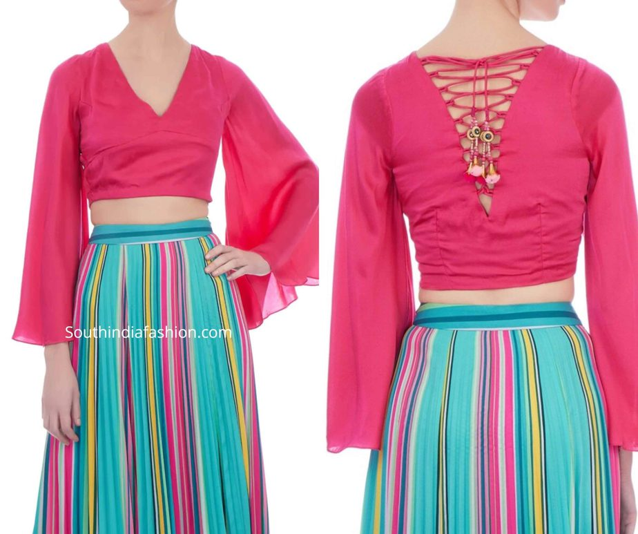 readymade crop tops for indian outfits