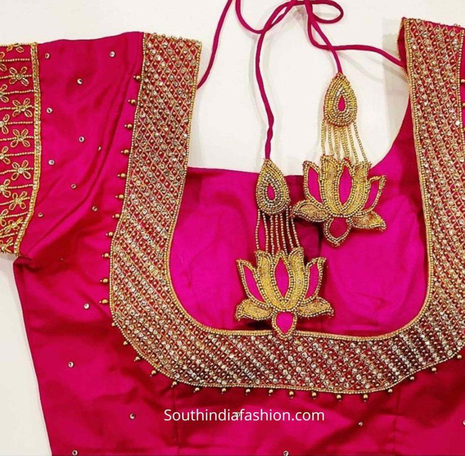 silk saree blouse designs (1)