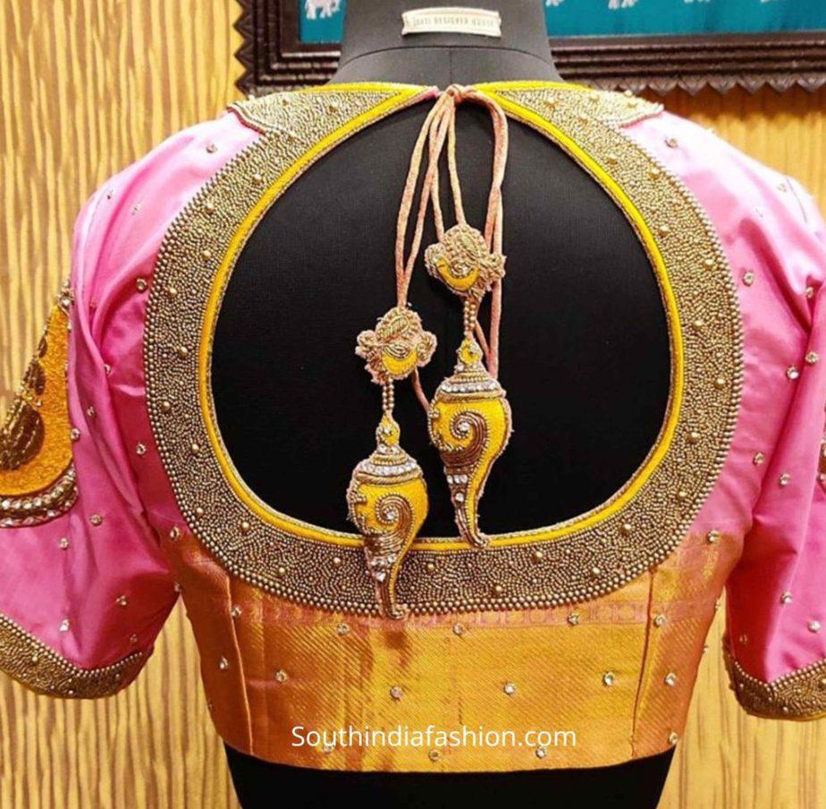 silk saree blouse designs