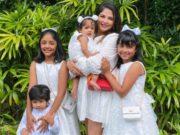 viranica manchu family in whites for easter celebrations