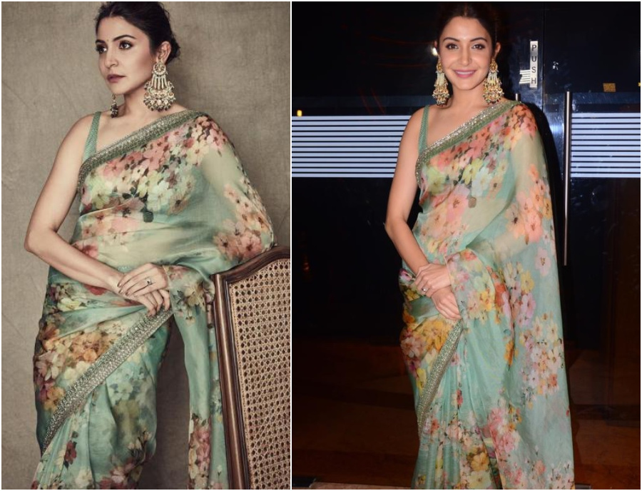 Celebrities in Organza Sarees