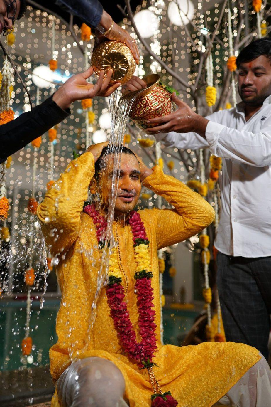 hero nikhil siddarth haldi function photos