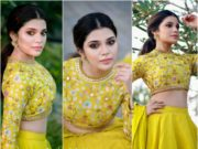 aathmika in yellow lehenga by divya reddy (2)