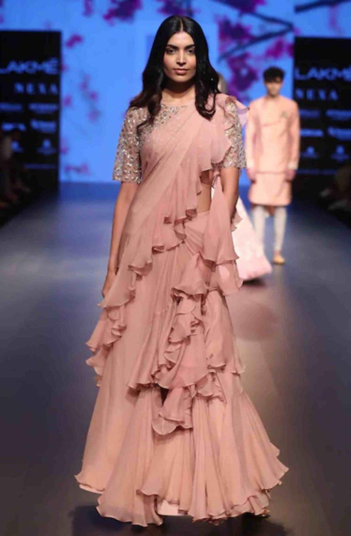 anushree reddy ruffled sarees