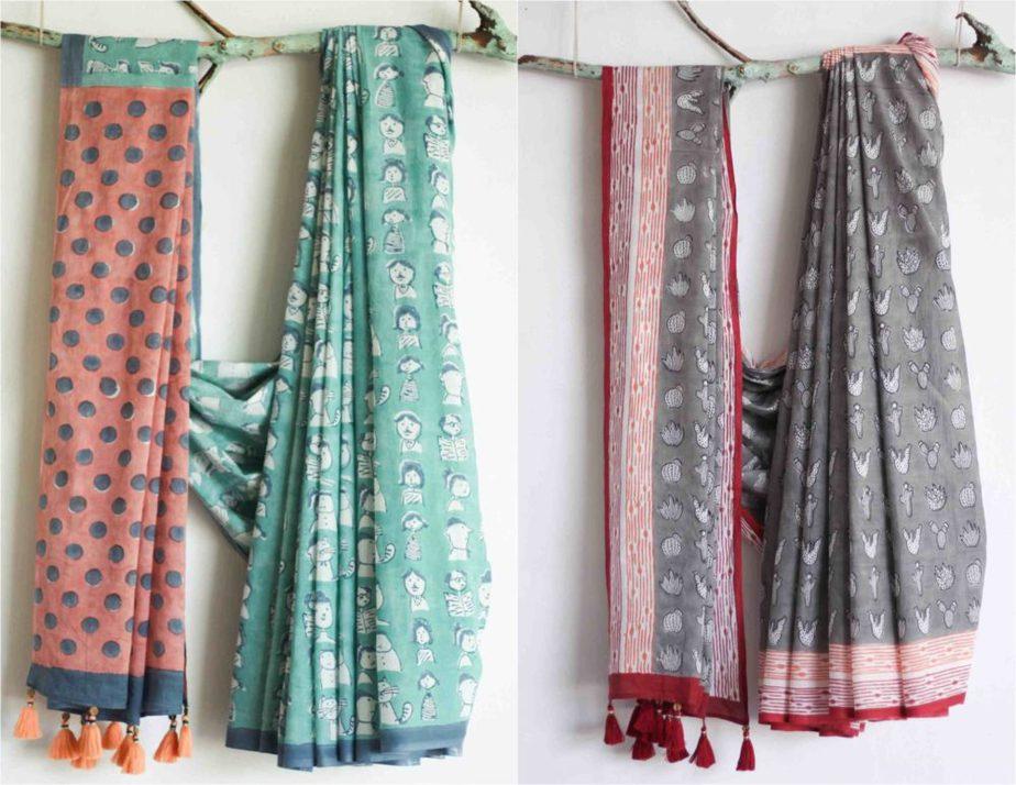 chhapa organic cotton sarees (1)