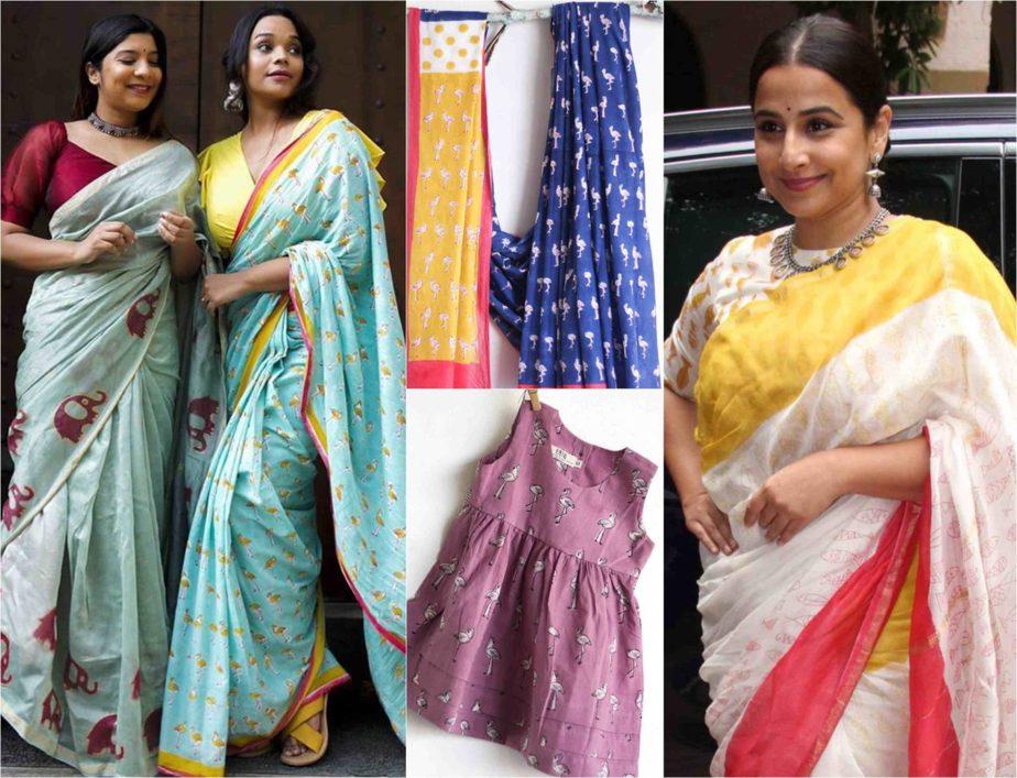 chhapa organic cotton sarees