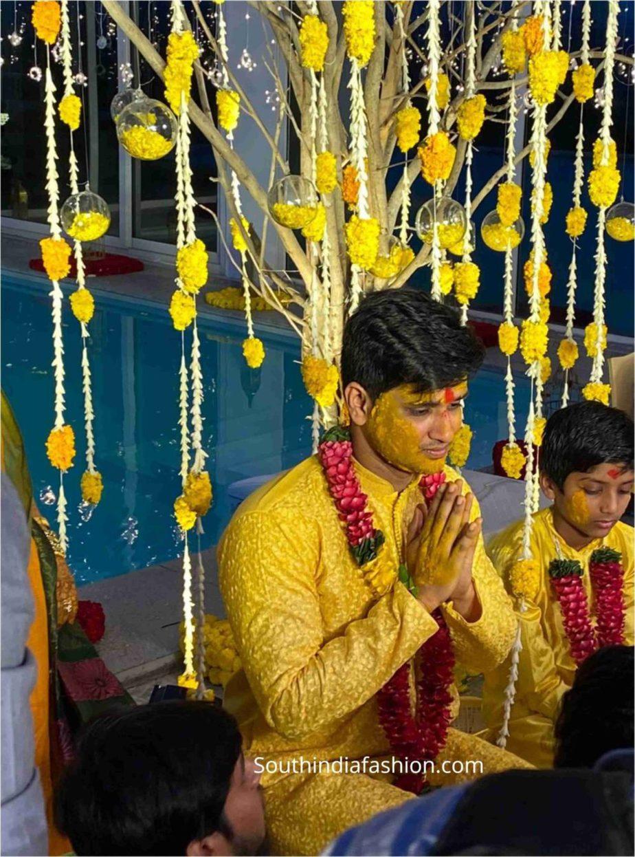 hero nikhil siddarth haldi function pellikoduku function photos (1)