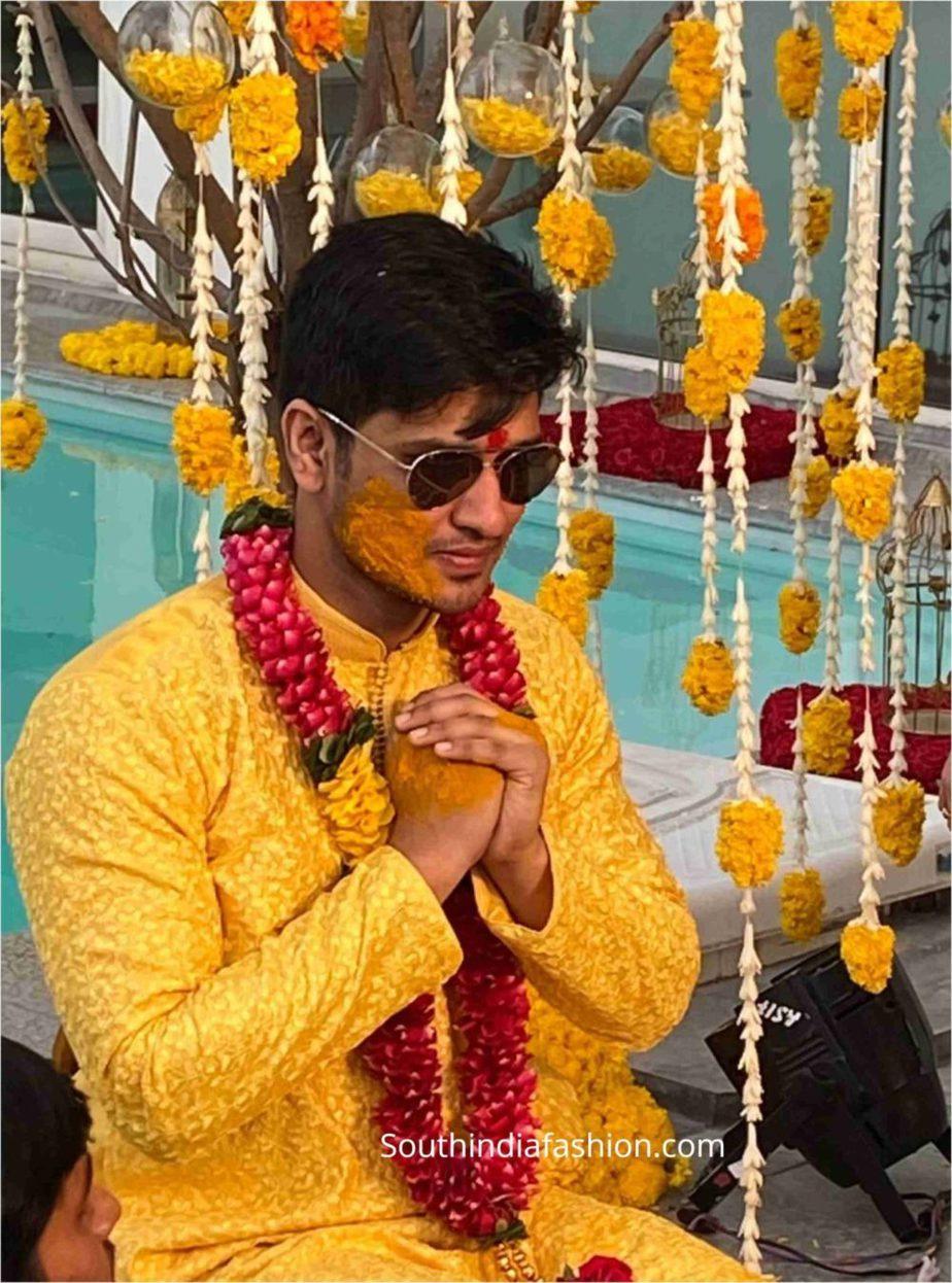 hero nikhil siddarth haldi function pellikoduku function photos (2)