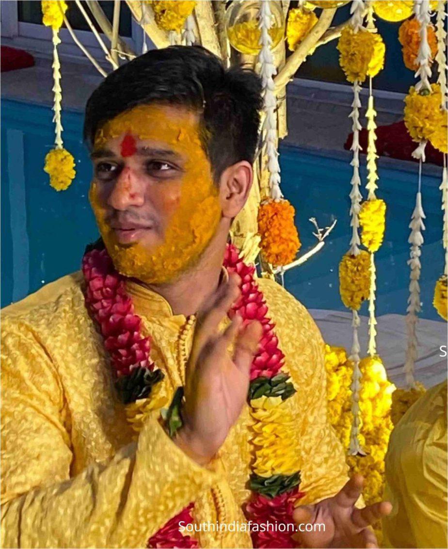 hero nikhil siddarth haldi function pellikoduku function photos (4)