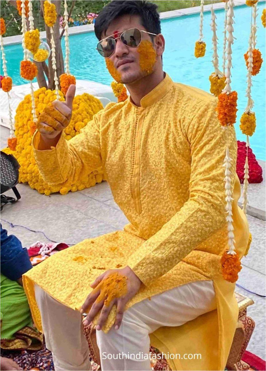 hero nikhil siddarth haldi function pellikoduku function photos (5)