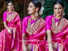 shilpa reddy pink kanjeevaram saree you magazine