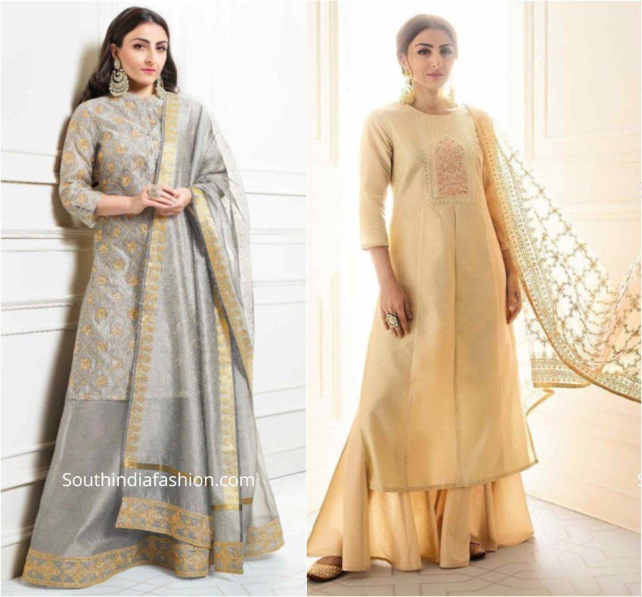 soha ali khan in house of pataudi sharara suits