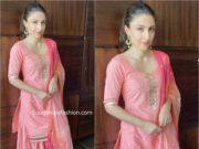 soha ali khan pink sharara suit eid