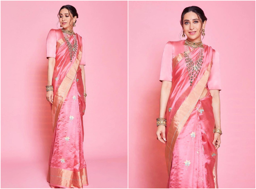 10 Times Karisma Kapoor Charmed Us With Her Saree Styles