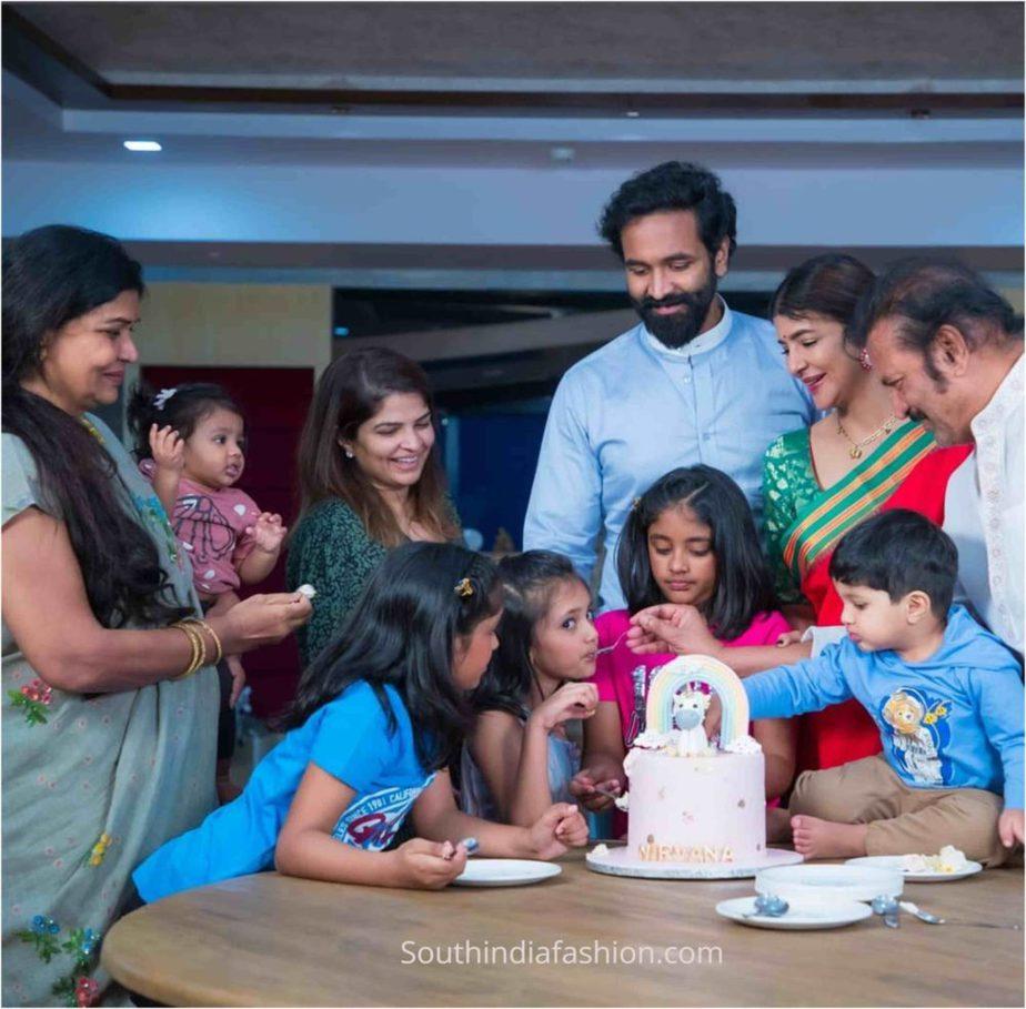 lakshmi manchu daughter nirvana birthday celebrations 2020