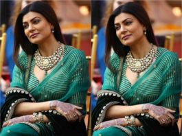 sushmita sen green saree in aarya