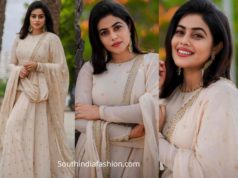 actress poorna shamna kasim white lehenga dhee juniors