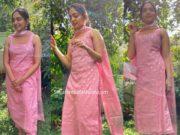 ahaana krishna pink kurta set