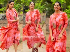 anchor anasuya dress with jacket
