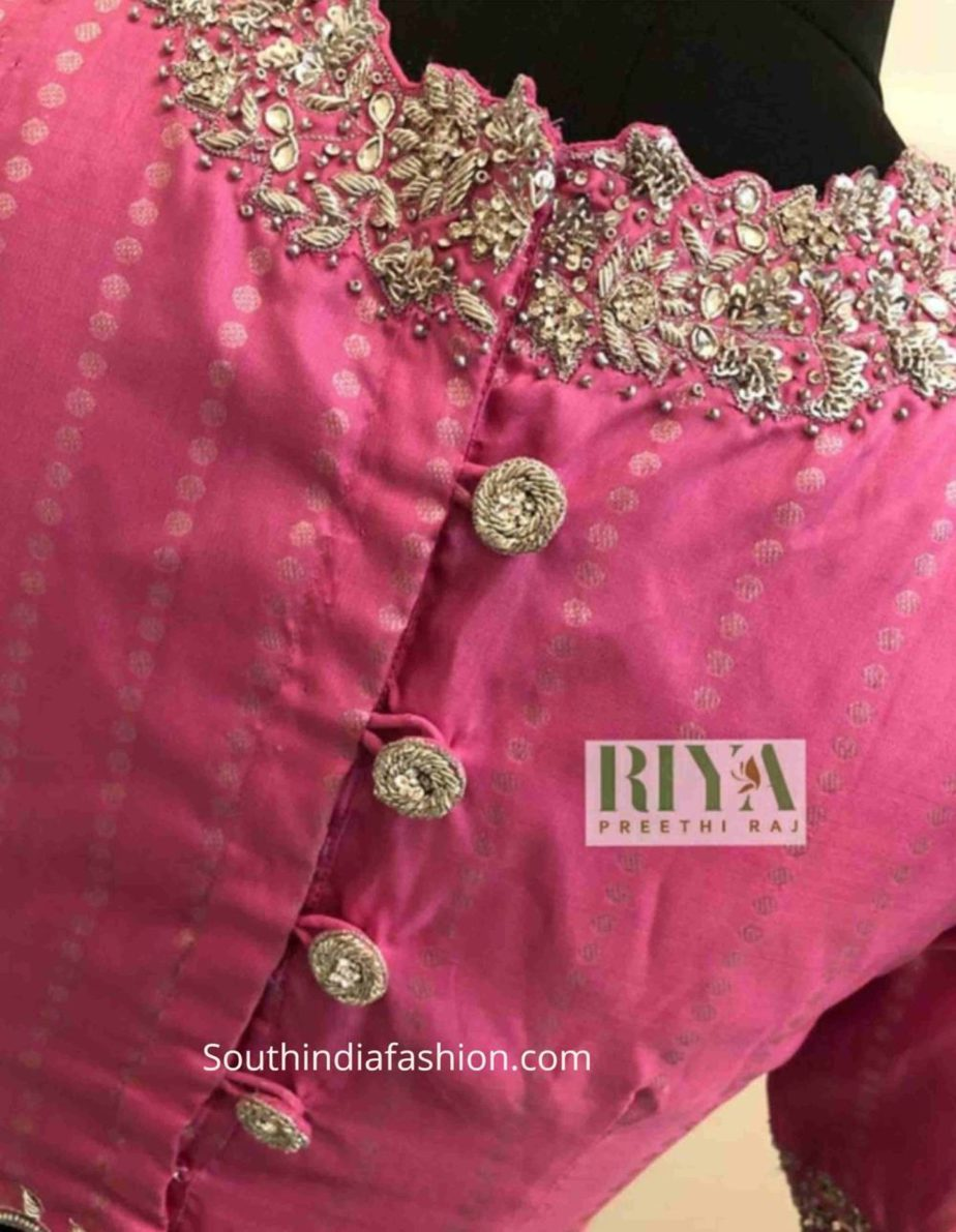 kanchi pattu saree blouse designs