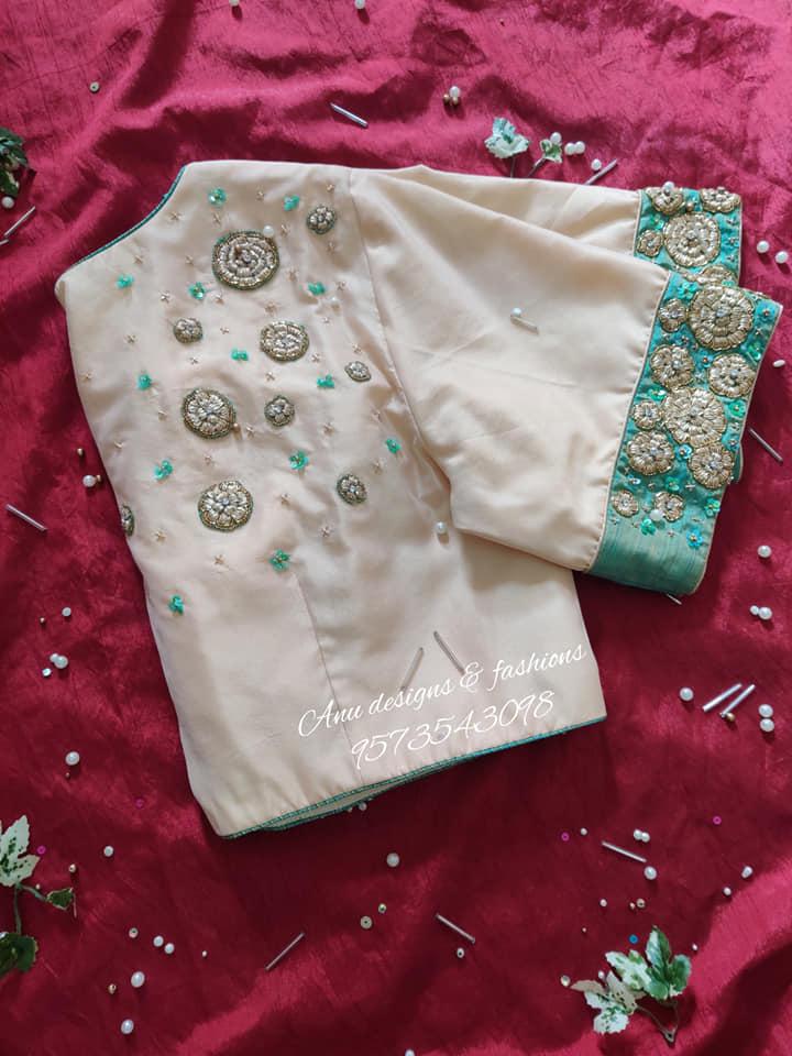 maggam work silk saree blouse designs 2020 (1)