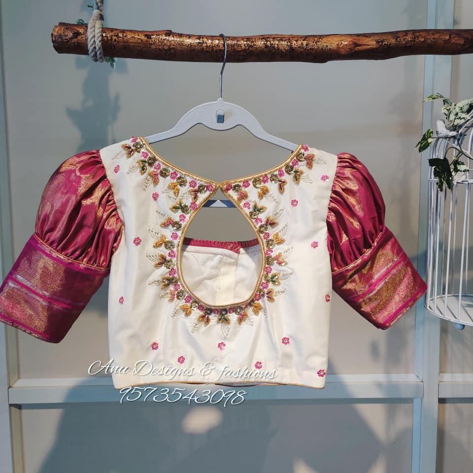 latest pattu saree blouse designs 2020 for silk sarees (18)