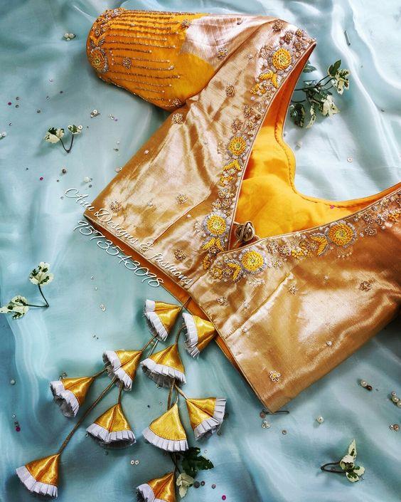 latest silk saree blouse designs 2020