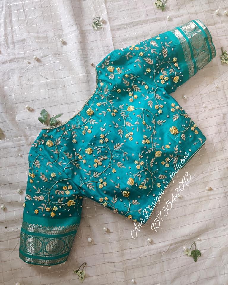 latest pattu saree blouse designs 2020 for silk sarees (1)