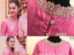 preetha hari pink blouse