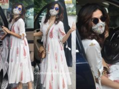 taapsee pannu white dress with mask